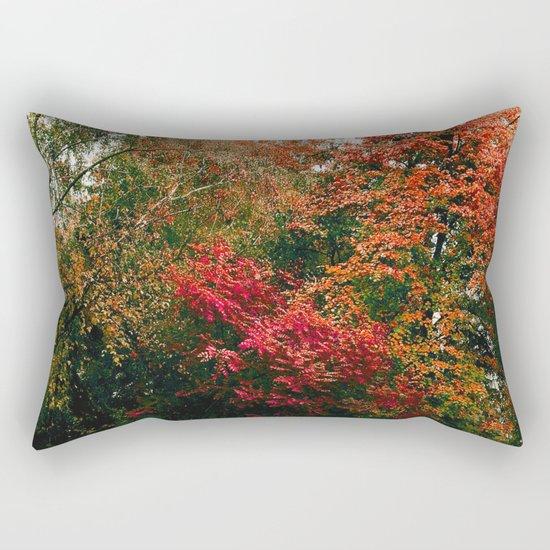 Autumn in the Garden Rectangular Pillow