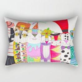 crazy kitty hatters Rectangular Pillow