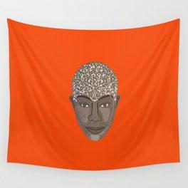 brown visage Wall Tapestry