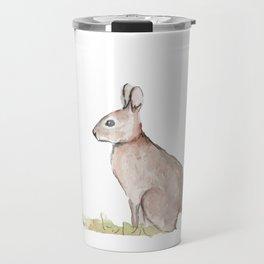 Rabbit Watercolor Travel Mug