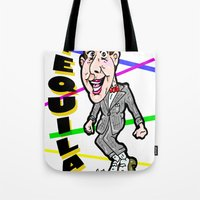 pee wee Tote Bags featuring TEQUILA!!!  Pee Wee Herman does his dance... by beetoons