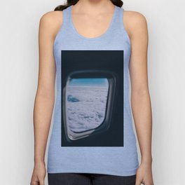 Outside the Airplane's Window (Color) Unisex Tank Top