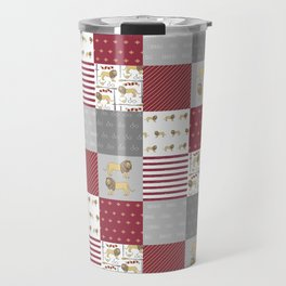 Lion House cheater quilt patchwork wizarding witches and wizards Travel Mug