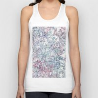 mexico Tank Tops featuring Mexico map by MapMapMaps.Watercolors
