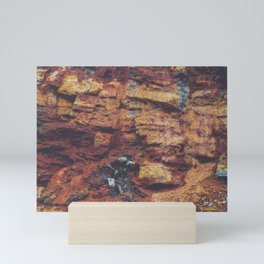 Rustic Layered Rock Texture Mini Art Print