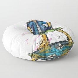 Paper Boater Floor Pillow