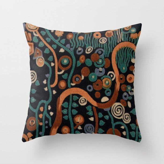 """Gustav Klimt """"Textile design - Model 7"""" edited (2) Deko-Kissen"""