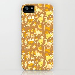 Dogs In Sweaters (Brown) iPhone Case