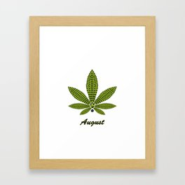 Birthstoned Leaf of Month, August Peridot Framed Art Print