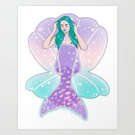 Holo Mermaid Art Print