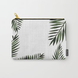 Watercolor tropical palm leaves Carry-All Pouch