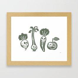 X-rays vegetables (white background) Framed Art Print