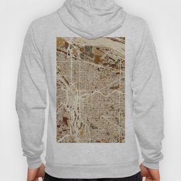 Portland Oregon City Map Hoody
