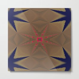 Pinkbrown(blue) Pattern 3 Metal Print