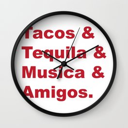 Great Weekends Wall Clock