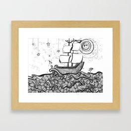 The Never Sea Framed Art Print