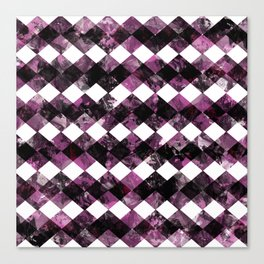 Purple Diamonds I Canvas Print