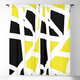 Abstract Interstate  Roadways Black & Yellow Color Blackout Curtain