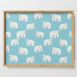 Polar Bear pattern cute animals print for kids room decor boys and girls nursery Serving Tray