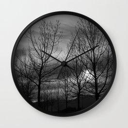 B&W Landscape Wall Clock