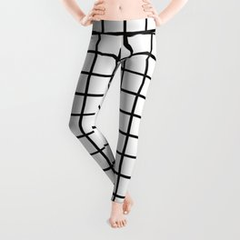 Simply Minimalistic Grid Line Pattern-Black & White- Mix & Match with Simplicity of Life Leggings