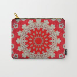 Bright Red Mandala Carry-All Pouch
