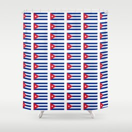 Flag of Cuba 2 -cuban,havana, guevara,che,castro,tropical,central america,spanish,latine Shower Curtain