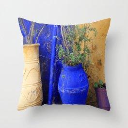 Three Flowerpots Throw Pillow