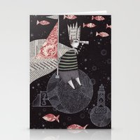 yetiland Stationery Cards featuring Five Hundred Million Little Bells (3) by Judith Clay