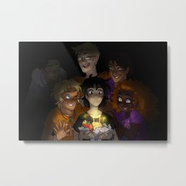 Happy Happy Meal Metal Print