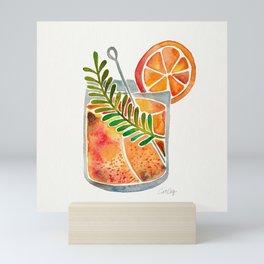 Blood Orange Tequila Sunrise Mini Art Print