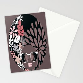 Afro Diva : Sophisticated Lady Pale Pink Peach Taupe Stationery Cards