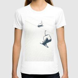 Chair lift shadow T-shirt