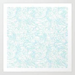 BLUE HUFF Art Print