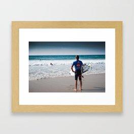 Pro Surfer Web Simpson Framed Art Print