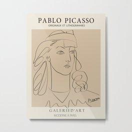 Picasso Woman- Anti War Metal Print