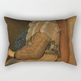 Edgar Degas - A Roman Beggar Woman.jpg Rectangular Pillow