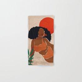 Red Sun Hand & Bath Towel