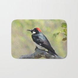 Acorn Woodpecker At Rest Bath Mat