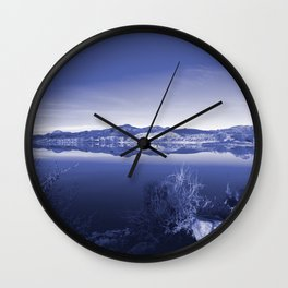 Surreal Landscape - Pahranagat NWR, Nevada Wall Clock