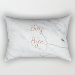 Boy. Bye. Rose gold and marble Rectangular Pillow