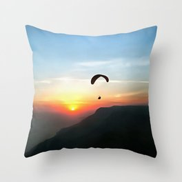 Sunset Paraglide Throw Pillow