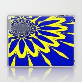 The Modern Flower Blue & Yellow Laptop & iPad Skin