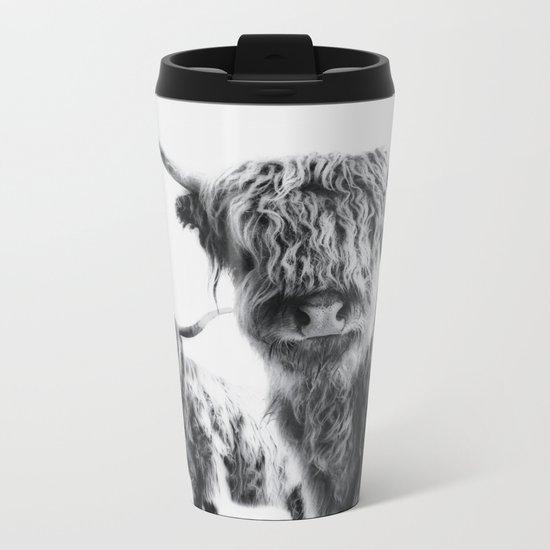 LULU & SARA - Scottish Highland Cows Metal Travel Mug