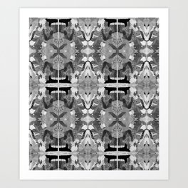 absence black and white Art Print