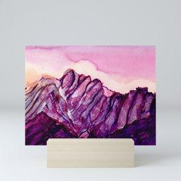 Colorful Watercolor Mountains #2 Mini Art Print