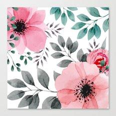 FLOWERS WATERCOLOR 14 Canvas Print