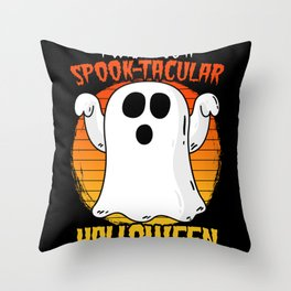 Wish You Spooktacular Halloween Scary Ghost Funny Throw Pillow