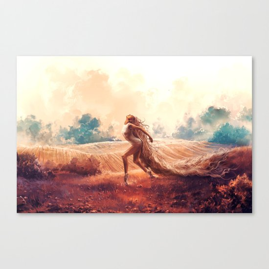 ARIES from the Dancing Zodiac Canvas Print