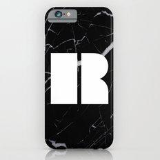 Black Marble - Alphabet R Slim Case iPhone 6s